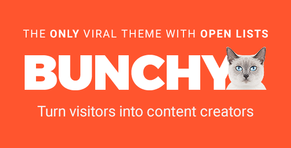 Bunchy – Viral WordPress Theme with Open Lists v1.4 Download