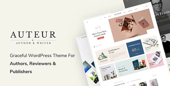 Auteur – WordPress Theme for Authors and Publishers 4.7